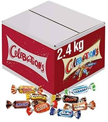 Celebrations Chocolate Bulk Box, Christmas Stocking Fillers, (Maltesers, Galaxy, Snickers and More), 2.4 kg