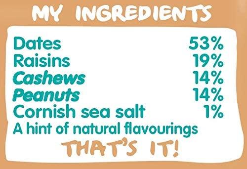Nakd Salted Caramel Natural Snack Bars - Vegan Bars - Healthy Snack - Gluten Free Bars 35 g (Pack of 18)