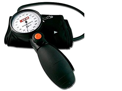 GIMA 32735 Tokyo aneroid sphygmomanometer, professional blood pressure meter, black cuff and pouch