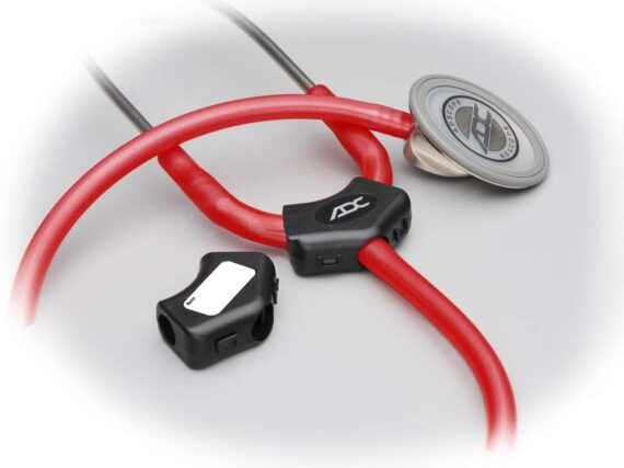 ADC Adscope 601 Convertible Cardiology Stethoscope with Tunable AFD Technology, Adult Diaphragm and Adult Bell or Pediatric Diaphragm, 28 inch Length, Burgundy, Medical Equipment for Doctors and Nurses