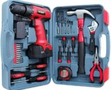 Hi-Spec 26 Piece 9.6V Drill Driver & Home Tool Kit Set. Complete DIY Repair with Electric Power Screwdriver & Drill for The Household, Office & Workshop. All in a Storage Case