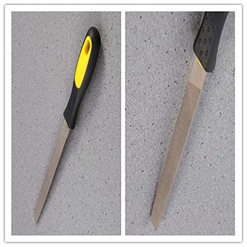 UEETEK 6-inch Hardened Steel File Flat Metal File Sharpening Tools with Comfortable Hand Grip Handles