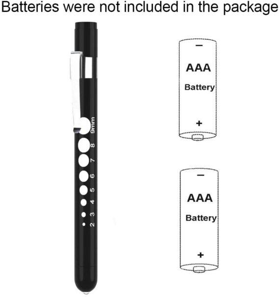 Diagnostic Medical Penlight (2 Packs), CAVN Mini Reusable LED Penlight Flashlight Pen Torch, Torch Doctor Nurse EMT Emergency Pen Light