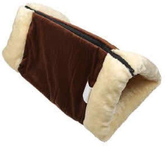 Ardisle 2 In 1 Pet Tunnel Bed Mat Cat Cushion Puppy Pad Fleece Self Heating Sofa