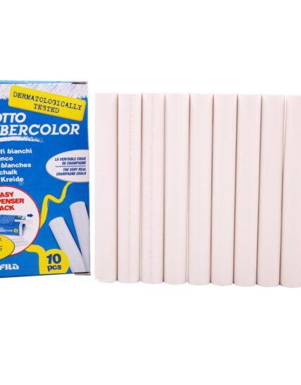 Giotto Robercolor Chalks White 10 Disposable Box