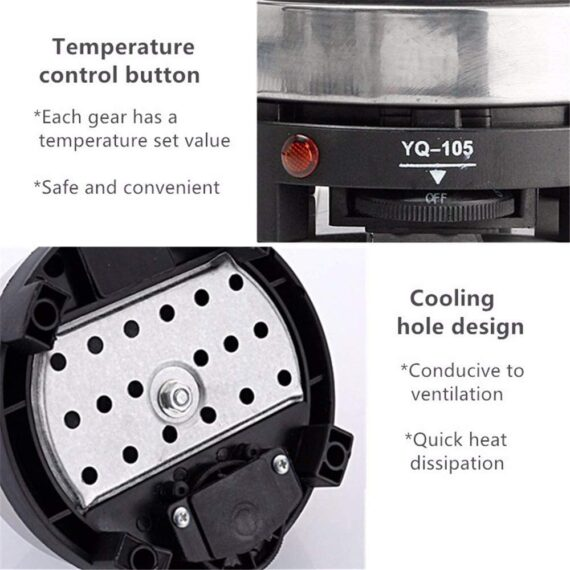 JDH Mini Electric Heater Stove Hot Plate, Portable Single Burner Coffee Heater, Multifunction Home Kitchen Appliance, for Coffee Tea Milk Water, All Kinds of Kettles