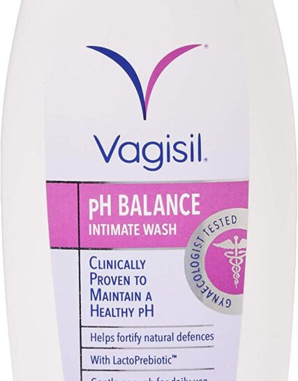 VAGISIL pH Balance Intimate Wash for Daily External Feminine Hygiene with LactoPrebiotic, 250 ml