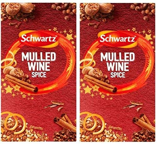 Schwartz Christmas Mulled Wine Spice (2 Boxes, Total 12 Sachets)