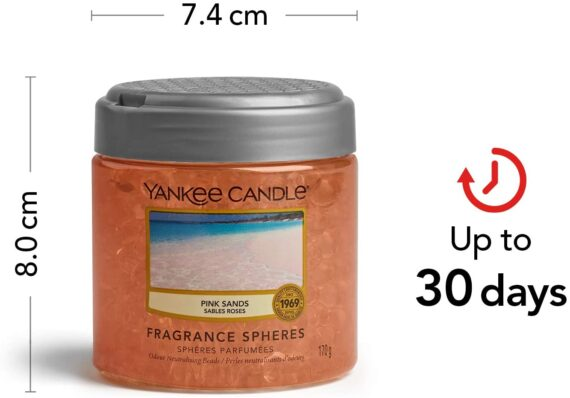 Yankee Candle Fragrance Spheres Air Freshener, Up to 30 Days of Fragrance, Pink Sands