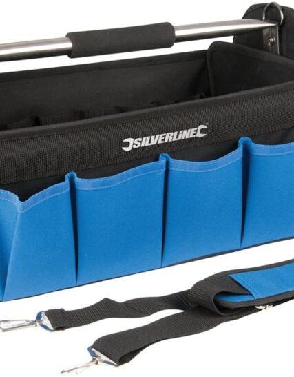 Silverline 748091 Heavy Duty Tool Bag Hard Base 400 x 200 x 255 mm