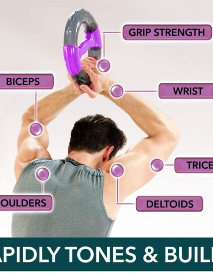 Powerball Powerspin Evo Isometric Arm Exerciser for Strong & Toned Arms and Shoulders. Rehabilitate Injury and Eliminate Bingo Wings