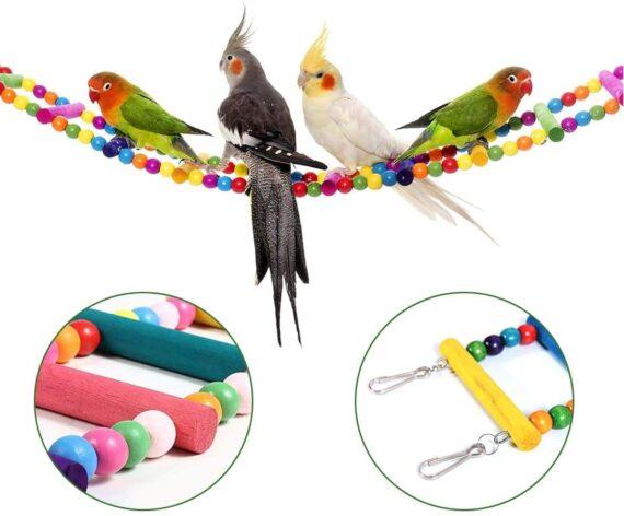 """N/A"" Chicken Swing Toys, 4 Pack Bird Stand Toy Chicken Fruit Holder Vegetable Hanging Feeder Chicken Coop Accessories for Hens, Medium&Large Bird, Parrots"