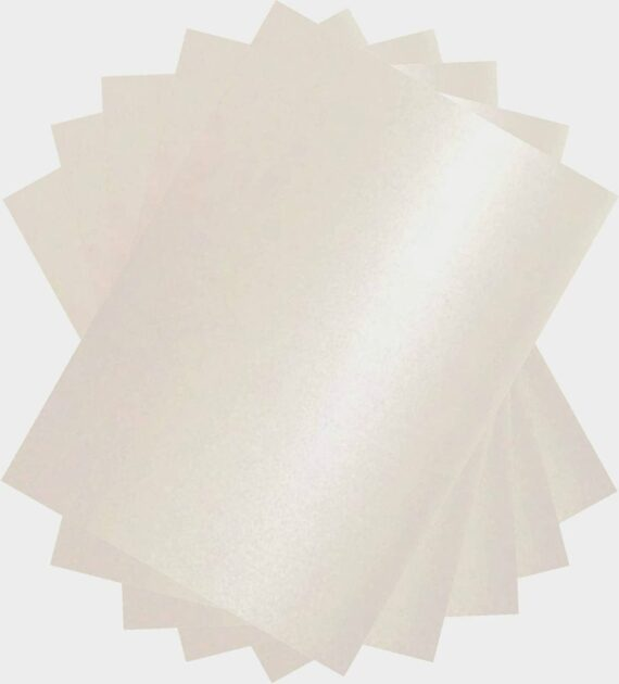Stella Crafts Pearl White A4 Card Stock x 50 Sheets, 250gsm, Double Sided