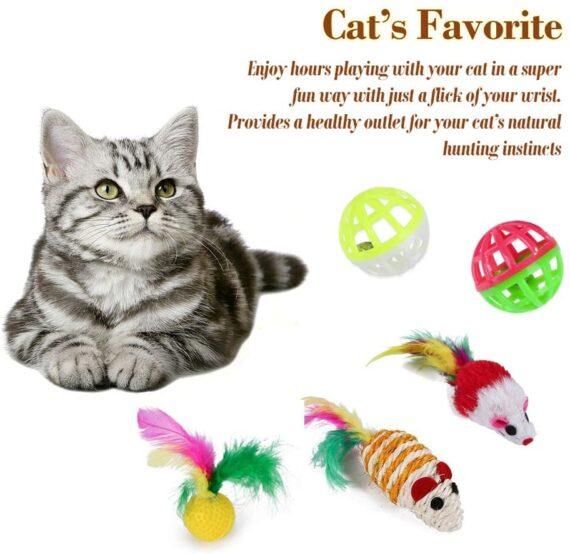 We Fine 21 Pieces Cat Toys