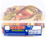 Haribo Giant Snakes Yellow Bellies sweets 768g tub