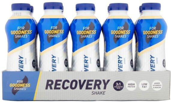 For Goodness Shakes Recovery Protein Drink, 475 ml, Vanilla, Pack of 10