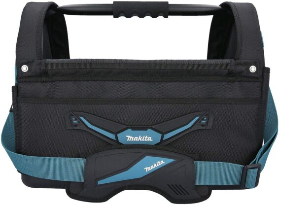 Makita E-05430 Blue Collection Large Open Tote Power Tool Bag with Strap