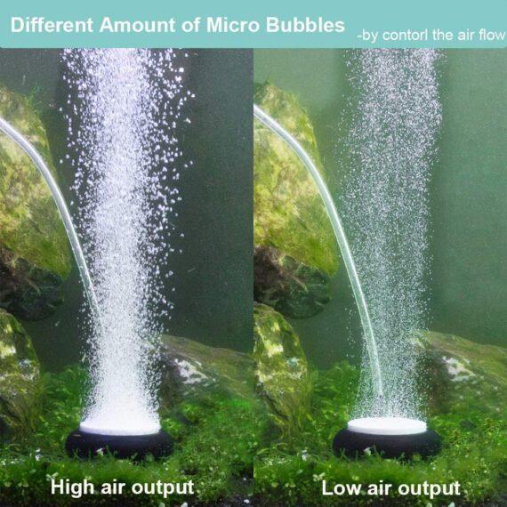 hygger Aquarium Air Stone, Air Bubble Stone Ultra Silent Aquarium Bubble Stone Deep Dissolving Oxygen Diffusers Air Pump Accessories for Aquarium Fish Tank and Hydroponic