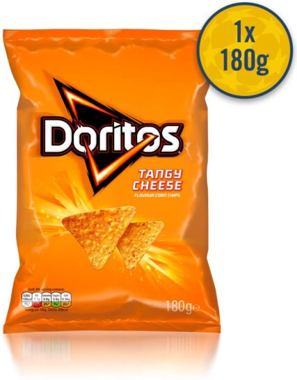 Walkers and Doritos UEFA Champions League Snacks Box (6x sharing snacks including Doritos Cool Original and Walkers Cheese and Onion Crisps)
