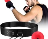 OOTO Upgraded Boxing Reflex Ball, Boxing Training Ball, Mma Speed Training Suitable for Adult/Kids Best Boxing Equipment for Training, Hand Eye Coordination and Fitness