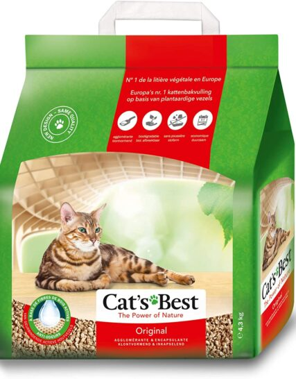 Cat's Best Öko Plus Cat Litter, 4.3kg