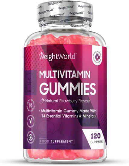 High Strength Chewable Multivitamin Gummies - 120 Count Vegetarian 14 Essential Multivitamins & Minerals Supplement, Vitamin C, A, D, B, Biotin + Zinc, Multivitamin Tablets For Men & Women Alternative