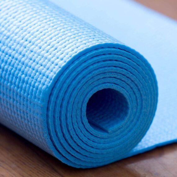 KSAR Sports Large Blue Yoga Mat & Carry Bag - 173cm x 61cm - 6mm PVC Foam - YOGA/PILATES/HOME