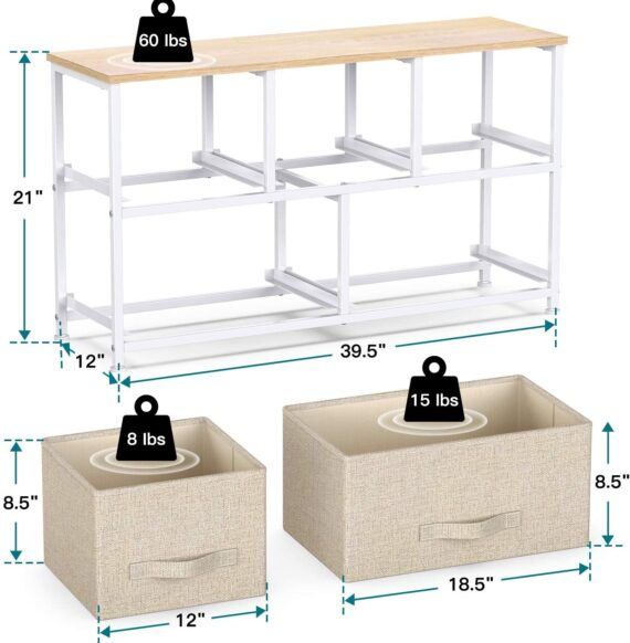 Pipishell Fabric Dresser with 5 Drawers, Wide Dresser Storage Tower, Organizer Unit with Wood Top and Easy Pull Handle for Closets, Living Room, Nursery Room, Hallway