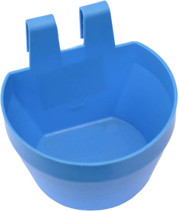 Supa Poultry Cage Cups/Galley Cups/Aviary Cups, Pack of 12, Suitable For Both Food, Grit Or Water, Includes Integral Hook So The Cups Can Be Hung From The Cage Mesh, Made In The UK