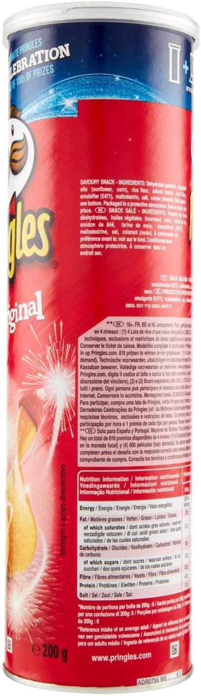 Pringles Original Crisps, (1 x 200g tube)