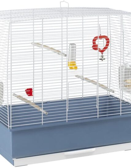 Ferplast Rekord 4 Bird Cage With WhiteBars with Accessories, Medium