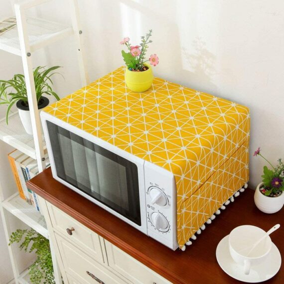 Microwave Dust Proof Cover,Microwave Oven Accessory Protective Cover Dust-Proof Covers Hood Home Decor Microwave Anti-Oil Towel