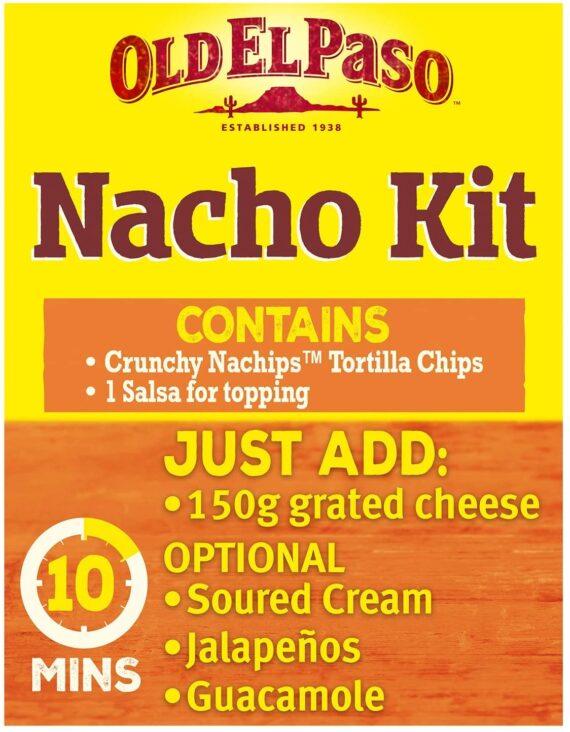 Old El Paso Mexican Original Cheesy Baked Nacho Kit, 505g