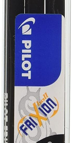 Pilot Refills for Frixion Rollerball 0.7 mm Tip - Black, Pack of 3