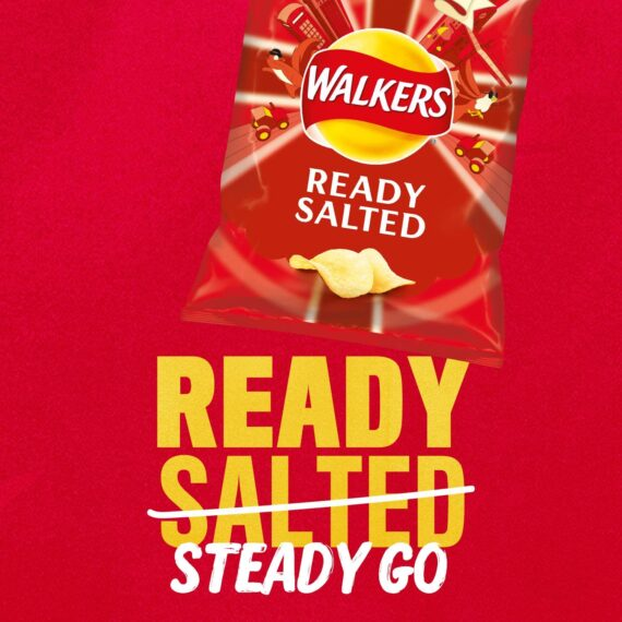 Walkers Ready Salted Crisps Box, 32.5 g, Case of 32