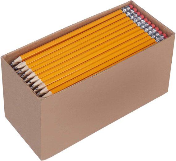 AmazonBasics Presharpened Wood Cased #2 HB Pencils, 30 Pack