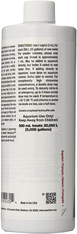 Seachem Prime Concentrated Conditioner, 500 ml