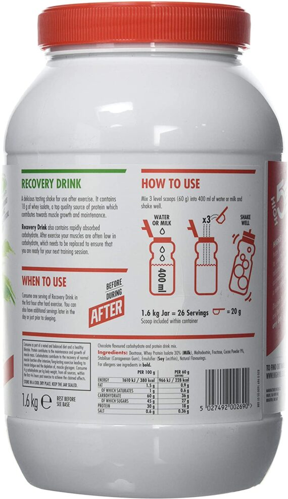 HIGH5 Cycling Sports Recovery Drink 1.6kg Muscle Growth Powder Vegetarian