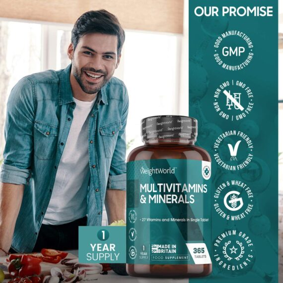 Multivitamins for Adults - 365 Tablets (One Year Supply) Multivitamins for Men & Women Tablets with Minerals, 27 Vitamins and Minerals Per Tablet, Immune System, Best High Strength Vitamin Complex