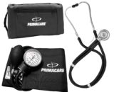 Primacare Medical Supplies DS-9181-BK Black Professional Blood Pressure Kit with Sprague Rappaport Stethoscope