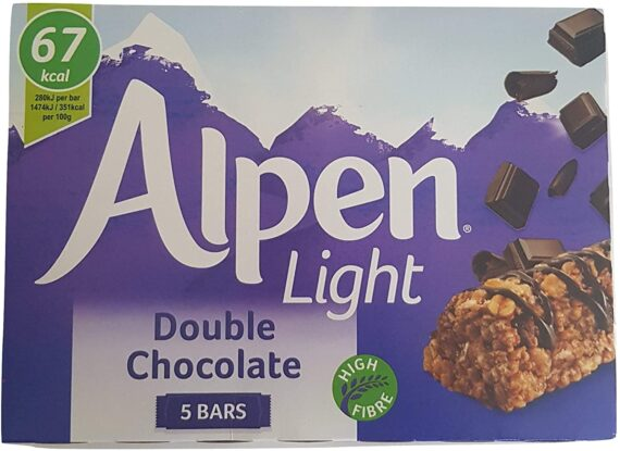 Alpen Cereal, Fruit & Chocolate Snack Bars 7 Different Boxes x 5 Bars Each Great for Lunch Boxes, Snacks, Breakfast or Any time. Selection by Kingdom Supplies.
