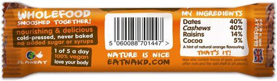 Nakd Cocoa Orange Natural Snack Bars - Vegan Bars - Healthy Snack - Gluten Free Bars 35 g (Pack of 18)