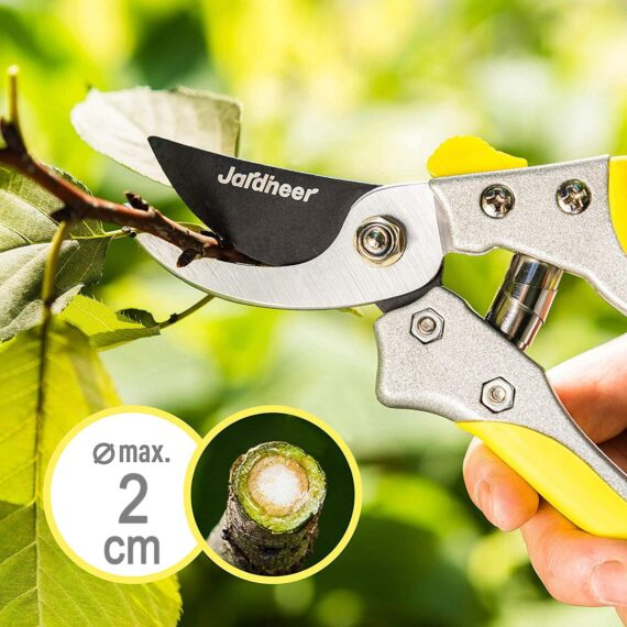 Jardineer 2pcs Garden Shears, Hedge Shears for Trimming Shrubs and Pruning Shears for Cutting Branches, Heavy Duty Garden Tools