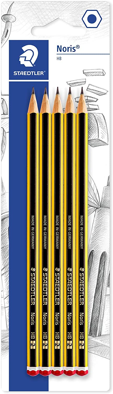 Staedtler Noris HB Pencils, Pack of 5, yellow