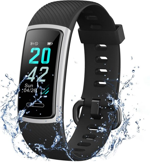 IANRTTE Advanced Fitness Trackers HR,IP68 Waterpoof Activity Trackers with Heart Rate and Sleep Monitor,Calorie Pedometer Step Counter Tracker Watch,14 Sport Modes Smart Watches for Kids Women Men