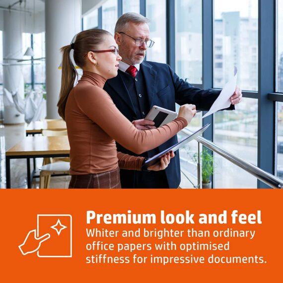 HP Printer Paper, Premium A4 Paper, 210x297mm, 100gsm, 1 Ream, 250 Sheets - FSC Certified Copy Paper