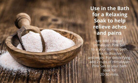 Himalayan Pink Salt Fine Grade 4kg - Natural & Unrefined Pink Salt from The Himalayas.