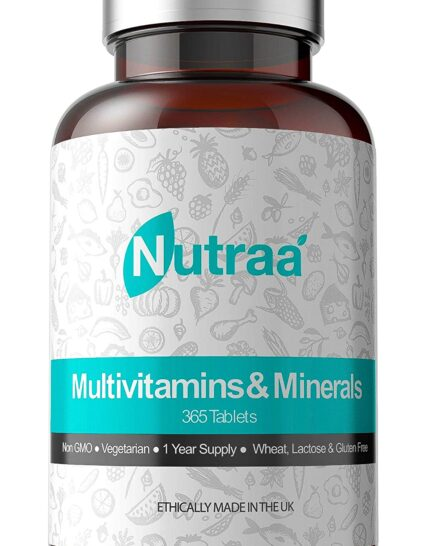 Multivitamin Tablets (365 Day Supply) Advanced Mineral Formula for Men & Women - Multi Vitamins Pills - with Iron and Vitamins A, C, D, B6 & B12 - Best Daily Mens & Womens Multivitamins Supplements