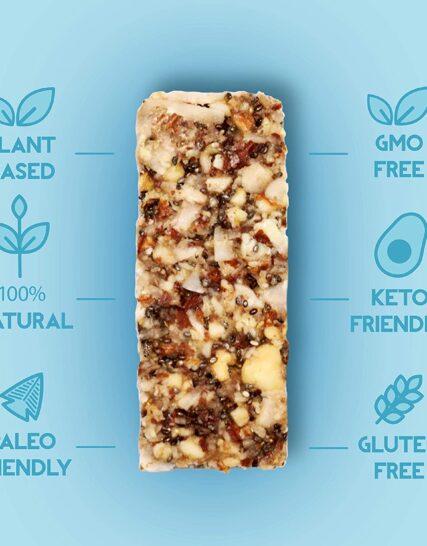 Adonis Keto Bar | Mixed Snack Bars | 100% Natural Nut Snacks, Low Carb, Vegan, Gluten Free, Low Sugar, Paleo - Box of 5