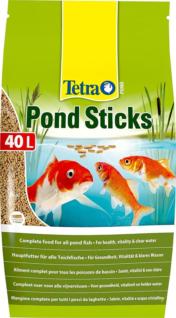 Tetra Pond Sticks, Complete Food for All Pond Fish for Health, Vitality and Clear Water, 40 Litre